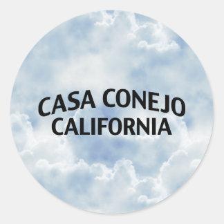 Casa Conejo California Classic Round Sticker