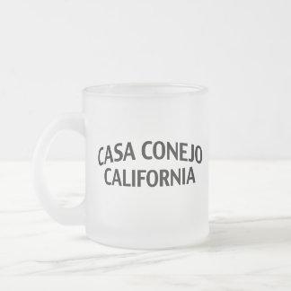 Casa Conejo California Frosted Glass Coffee Mug