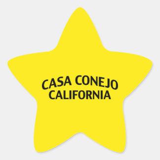 Casa Conejo California Star Sticker