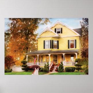 Casa - cordón amarillo - casa ideal póster