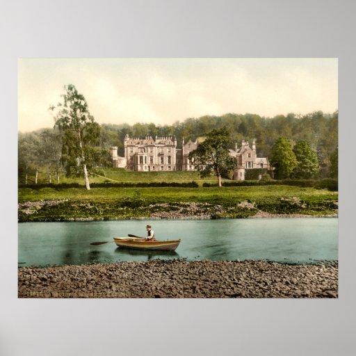 Casa de Abbotsford, impresión archival de las fron Poster