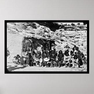 Casa de Adobe del indio del Paiute 1912 Poster