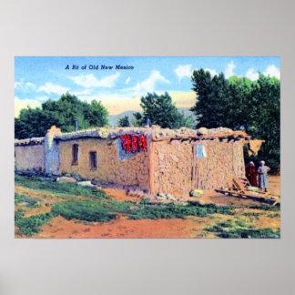 Casa de Adobe vieja New México Posters