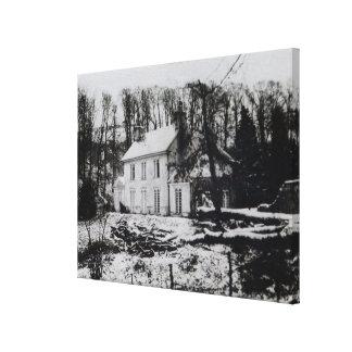 Casa de Asham cerca de Beddingham en Sussex del es Impresión En Lienzo Estirada