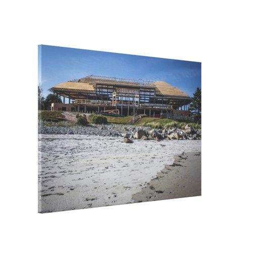 Casa de campo blanca de la playa de Pont (bajo con Lona Envuelta Para Galerias