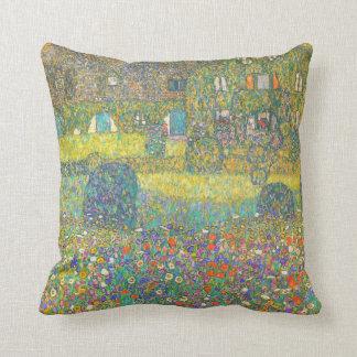 Casa de campo de Gustavo Klimt por el Attersee Cojín