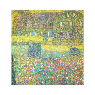 Casa de campo de Gustavo Klimt por el Attersee Impresion En Lona