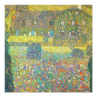 """Casa de campo de Gustavo Klimt por el Attersee Invitación 5.25"""" X 5.25"""""""