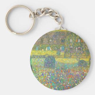 Casa de campo de Gustavo Klimt por el Attersee Llavero Redondo Tipo Pin