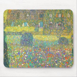 Casa de campo de Gustavo Klimt por el Attersee Tapete De Raton