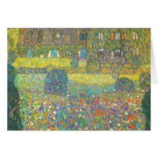 Casa de campo de Gustavo Klimt por el Attersee Tarjeta De Felicitación