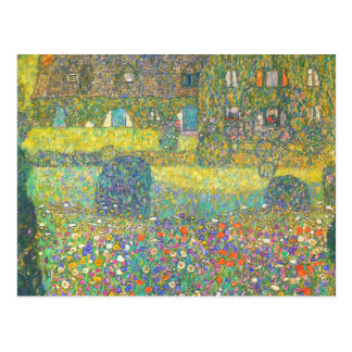 Casa de campo de Gustavo Klimt por el Attersee Tarjeta Postal