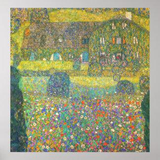 Casa de campo de Gustavo Klimt por el poster de At