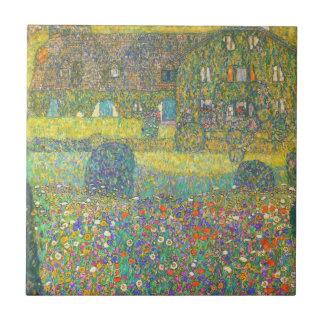 Casa de campo de Gustavo Klimt por la teja de Atte
