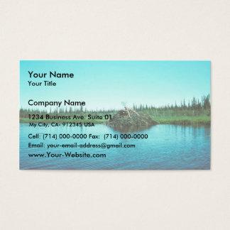 Casa de campo del castor tarjetas de visita