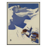 Casa de campo del esquí de Austria en las montañas Posters