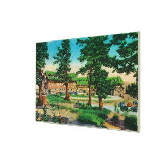 Casa de campo del lago crater y lago viejo PinesCr Impresión En Lona Estirada