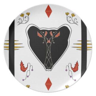 Casa de campo del oso negro platos de comidas