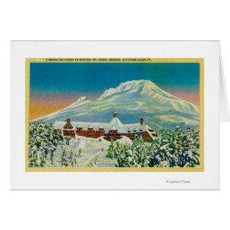 Casa de campo del Timberline en invierno en la cap Tarjeta De Felicitación