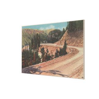 Casa de campo roja, TA - vista de la curva de Mae  Impresión En Lona Estirada