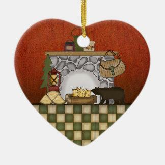 Casa de campo rústica: Navidad de la cabina del pa Ornamentos De Reyes Magos