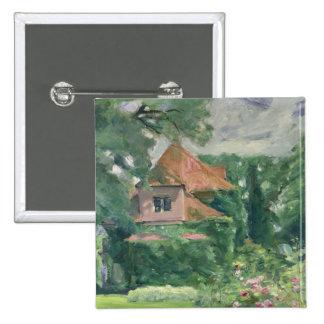 Casa de campo vieja, 1902 pin cuadrada 5 cm