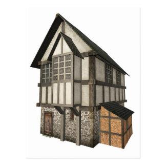 Casa de ciudad medieval postal