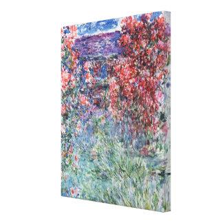 Casa de Claude Monet el   en Giverny debajo de los Impresión En Lienzo