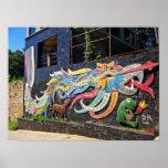 Casa de Diego Rivera de los vientos Quetzalcoatl Poster