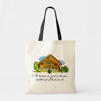 Casa de dios bolsa tela barata