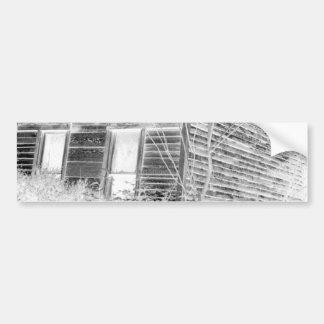 Casa de dos pisos abandonada - negativa pegatina para auto