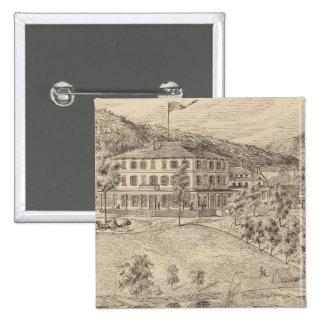 Casa de Dunmore del lago en Salisbury Pin Cuadrada 5 Cm