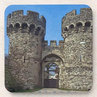 Casa de enfriamiento de la puerta del castillo posavasos de bebida