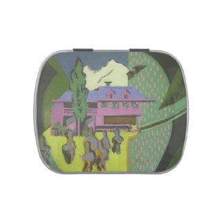 Casa de Ernst Kirchner- Violett, montaña Nevado Frascos De Dulces