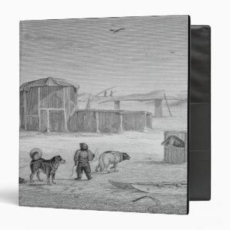 Casa de Eskimaux, construida del hielo, Igloolik,