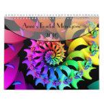 Casa de fieras 2016 del fractal de Anne Calendarios