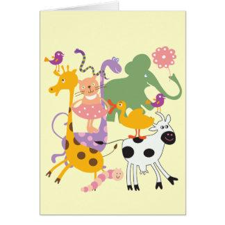 Casa de fieras animal tarjeta de felicitación