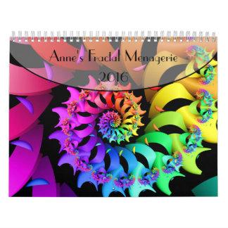 Casa de fieras del fractal de Anne Calendarios