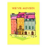 Casa de fila hemos movido el cambio de nuevo hogar postales
