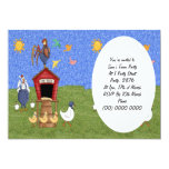 Casa de gallina invitación 12,7 x 17,8 cm