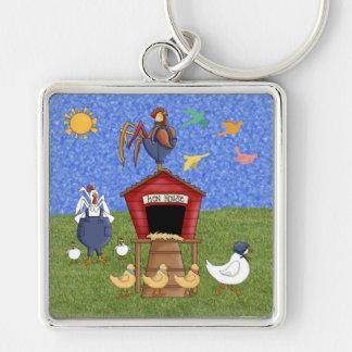 Casa de gallina llaveros personalizados