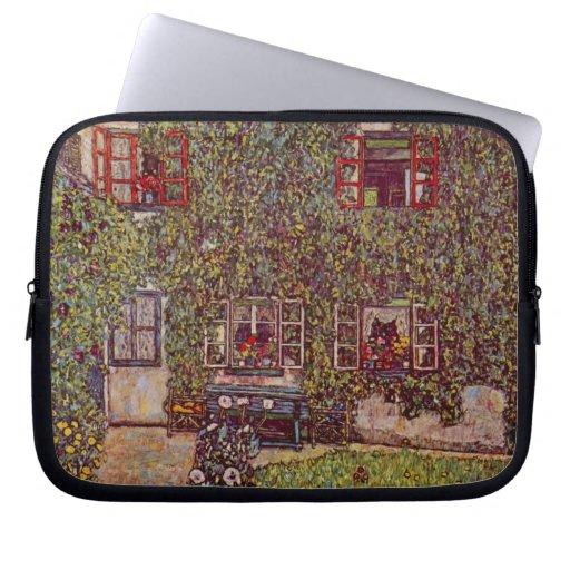 Casa de Guardaboschi por Klimt, bella arte del Funda Computadora