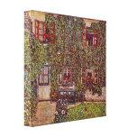 Casa de Guardaboschi por Klimt, bella arte del Impresión De Lienzo