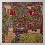 Casa de Guardaboschi por Klimt, bella arte del Posters
