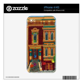 Casa de Haight Street Skin Para El iPhone 4S