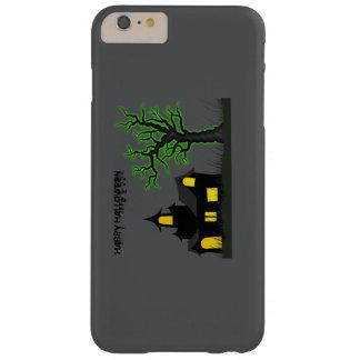 Casa de Halloween y árbol verde Funda Para iPhone 6 Plus Barely There