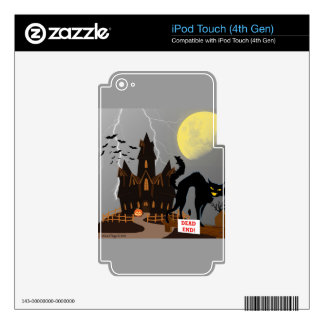 Casa de Hanuted Halloween Skins Para iPod Touch 4G