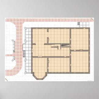 Casa de Huanted, primera planta, un mapa del juego Impresiones