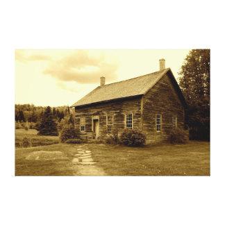 Casa de Juan Brown en las montañas de Adirondack Lienzo Envuelto Para Galerias