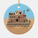 Casa de la arcilla adorno de navidad